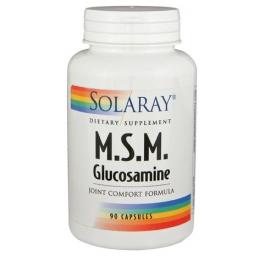 MSM CON GLUCOSAMINA 90 CAPS     SOLARAY