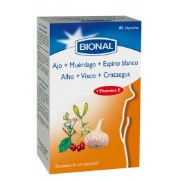 AJO + MUERDAGO + ESPINO BLANCO 80 CAP BIONAL